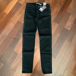 Zara black studded jeans